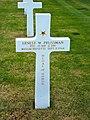 Tomb of Ernest W. Prussman at American Cemetery in Saint James, Normandie, France.jpg