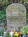 Tombstone Frau von Linsky, Old Cemetery of Arnstadt.JPG