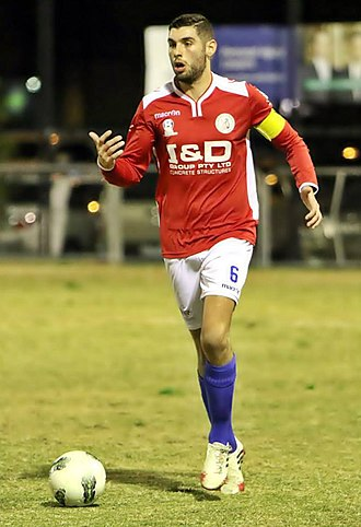 Tomislav Uskok - Uskok on the ball with Melbourne Knights in 2015