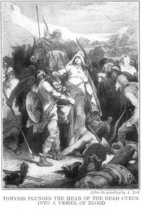 Tomyris Plunges the Head of the Dead Cyrus Into a Vessel of Blood by Alexander Zick.jpg