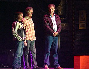 Top Gear team Richard Hammond, James May and Jeremy Clarkson 31 October 2008.jpg