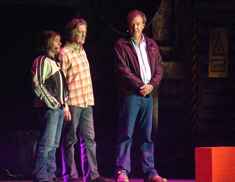 پرونده:Top Gear team Richard Hammond, James May and Jeremy Clarkson 31 October 2008.jpg