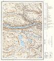 Topographic map of Norway, E29 aust Vågå, 1966.jpg
