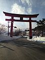Torii on Chugushi Sando of Nikko Futarasan Shrine 1.jpg