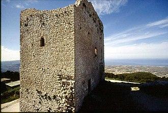 Castle of Ventimiglia - Remains of Castello di Ventimiglia (the primary tower)