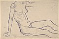 Torso of a Seated Nude, Facing Right (Study for Monument to Paul Cézanne) MET DP811912.jpg