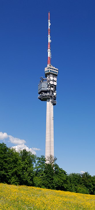 Swisscom - Telecommunication Tower in St. Chrischona is the most important in north-west of Switzerland