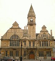 Trowbridge Town Hall, as seen from Fore Street