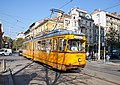 Tram in Sofia at Central market hall and Mineral bath 2012 PD 002.jpg