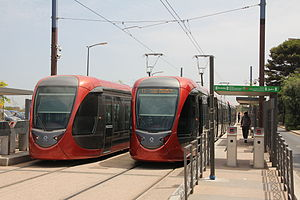 Trams in Casablanca 2013.JPG