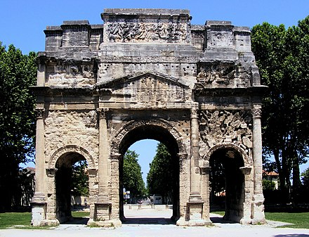 Triumphal Arch of Orange, first century AD Trarch Orange.jpg