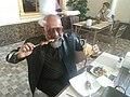 Traveller Rudolph.A.Furtado having a Shish Kebab in Samarkand..jpg
