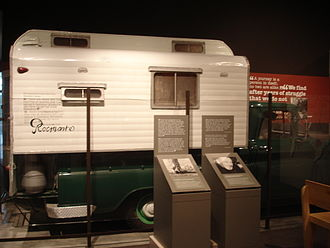 John Steinbeck - Rocinante, camper truck in which Steinbeck traveled across the United States in 1960