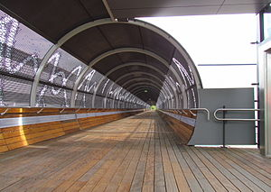 Media Park (Hilversum) - Footbridge between the site and Hilversum Noord railway station