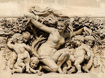 Triomphe de Flore Pavillon de Flore Louvre
