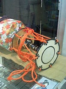 A tsuzumi (Japanese drum)