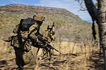 Two Australian soldiers at the Bradshaw Training Area during exercise Talisman Sabre 2015.jpg