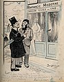 Two gentlemen opine that a 'Pharmacie Moderne' that opened i Wellcome V0011826.jpg