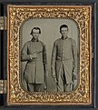 Two unidentified soldiers from Tennessee in Confederate uniforms with rifles and pepperbox pistol LCCN2012648963.jpg