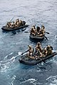 U.S. Marines with the Maritime Raid Force, 11th Marine Expeditionary Unit deploy from the amphibious assault ship USS Makin Island (LHD 8) in combat rubber raiding craft.jpg