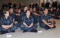 U.S. Navy recruits with the Recruit Training Command at Naval Station Great Lakes in Illinois listen to a presentation Sept 110908-N-IK959-574.jpg