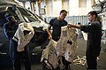 U.S. Sailors aboard the littoral combat ship USS Freedom (LCS 1) conduct an inventory of deck equipment in preparation for a crew turnover in the Strait of Singapore Aug. 1, 2013 130801-N-JN664-096.jpg