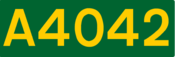 A4042 road shield