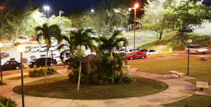 University of Puerto Rico at Arecibo - UPRA at night