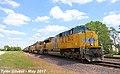 UP 8672 Leads WB Covered Hopper Kansas City, KS 5-26-17 (34890901211).jpg