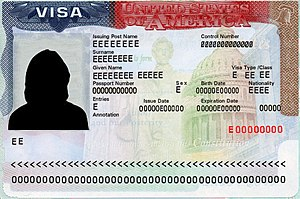 Visa policy of the United States - A US visa specimen