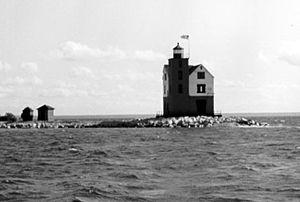 Round Island Light (Michigan) - U.S. Coast Guard archive photo