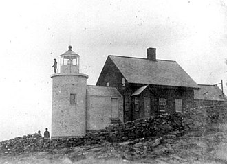Jamie Wyeth - Tenants Harbor Lighthouse, Maine prior to construction of a new house and reconstruction of the tower