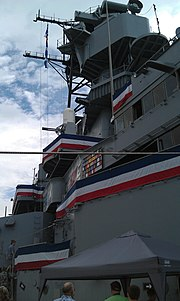 USS Iowa (BB-61) superstructure