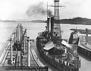 USS Iowa In Panama Canal in 1923