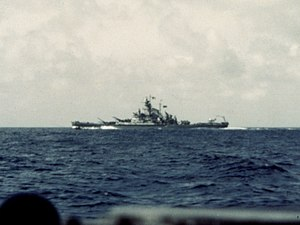 USS Massachusetts (BB-59) - Massachusetts off Casablanca, 8 November 1942