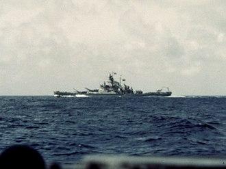 USS Massachusetts (BB-59) - Massachusetts off Casablanca, 8 November 1942
