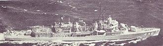 USS Radford (DD-446) - Radford following her FRAM II modernization with DASH-flight deck aft.