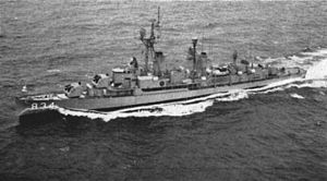 USS Turner (DDR-834) underway c1961