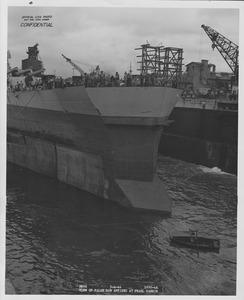 USS Washington false bow for collision damage NARA BS 111569.tif
