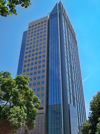 U.S. Bank Tower (Sacramento) - The tower as completed in 2008.