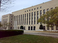 Exterior view of the E. Barrett Prettyman Courthouse building in Washington, D.C.