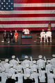 US Navy 040508-N-2383B-303 Adm. Vern Clark, Chief of Naval Operations (CNO) leads the oath of office to graduates who will be commissioned Ensigns.jpg