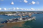 US Navy 040706-N-5923E-021 The Nimitz-class aircraft carrier USS John C. Stennis CVN 74 departs Pearl Harbor, Hawaii.jpg