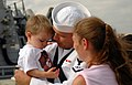 US Navy 060817-N-7653W-117 Sonar Technician 3rd Class David Thomas greets his family after returning home from deployment aboard the guided-missile destroyer USS Gonzalez (DDG 66).jpg
