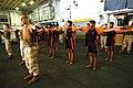 US Navy 061026-N-4007G-002 Marine Expeditionary Unit (Special Operations Capable) exercise with Indian Soldiers assigned to the 9th Battalion of the Sikh Infantry aboard USS Boxer (LHD 4) during Malabar 2006.jpg