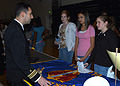 US Navy 070215-N-1082Z-001 Lt. Cmdr. Paul J. Lanzilotta of Carrier Airborne Early Warning Squadron One Two One (VAW-121) Bluetails explains naval aviation to students at Ocean Lakes High School in Virginia Beach, Va.jpg