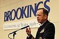 US Navy 070403-N-0696M-070 Chief of Naval Operations (CNO) Adm. Mike Mullen speaks at the Brookings Institution on the Navy's effort to formulate a new maritime strategy.jpg