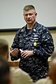 US Navy 090331-N-9818V-160 Master Chief Petty Officer of the Navy (MCPON) Rick West speaks with chief petty officers during his visit to the Stennis Space Center.jpg