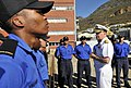 US Navy 090407-N-8273J-312 Chief of Naval Operations (CNO) Adm. Gary Roughead, right, speaks with Sailors assigned to the South African Navy submarine SAS Queen Modjadji.jpg