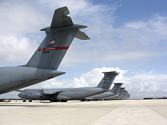 Naval Station Rota - Eight C-5 Galaxy aircraft at Rota